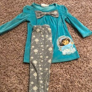 Dora Two Piece Outfit Size 24 Months
